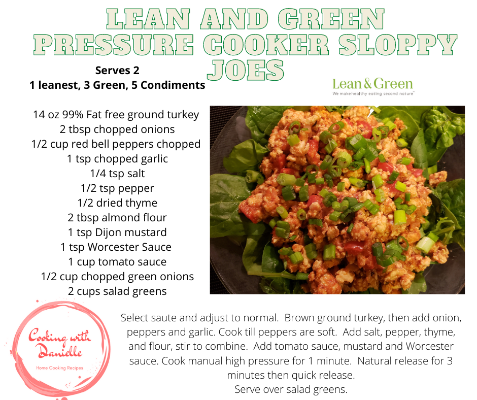 Lean and Green Pressure Cooker Sloppy Joes